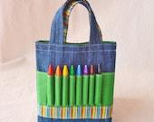 Crayon Tote Art Activity READY To SHIP ARTOTE Mini in Leapin' Lizards