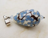 Lampwork Glass Pendant Blue Tree Bead