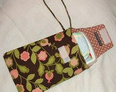 Pink and Chocolate Brown Floral Diapers and Wipes Case
