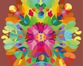 color -in -print at home Heart mandala