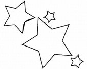 Star Doodles 1 Embroidery Machine Design Patterns Digital Download