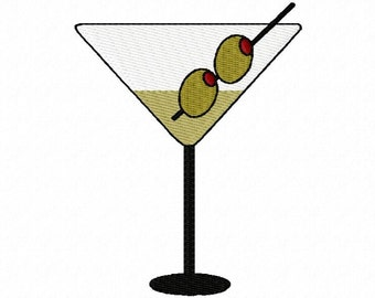 Alcoholic Drinks Embroidery Machine Design Patterns Digital Download