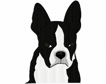 Boston Terrier Embroidery Machine Design Patterns Digital Download