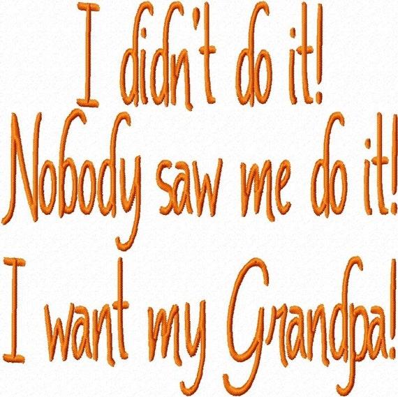 Grandparents Quotes Embroidery Machine Designs Digital