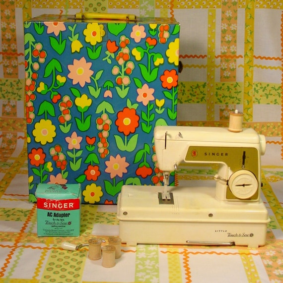 Vintage Toy Sewing Machine- the Singer Little Touch and Sew