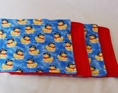 Set of four 8x8 Pirate Duck Washies