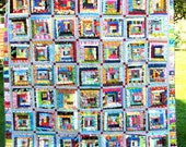 Funky, Fun Handmade Full Size Quilt