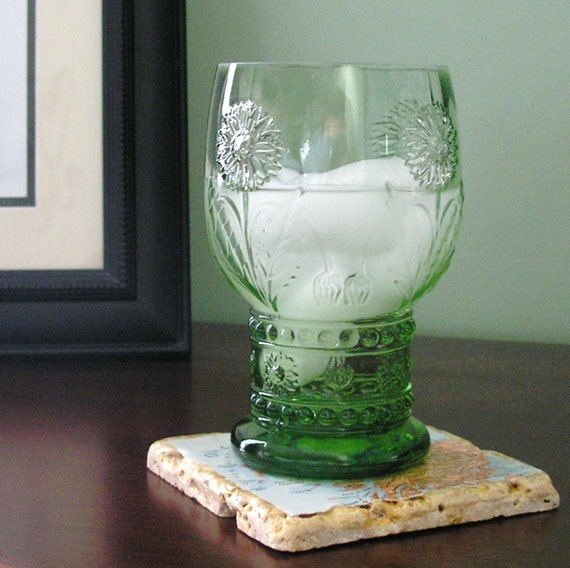 Natural Stone Vintage Map Coasters.  You Select Four Locations.