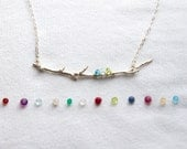 Family Twig Necklace. Personalized Mothers Gift. Twig. Branch. Custom Mother & Child. Gift for mom