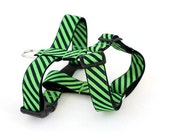 Harness Adjustable Custom in Power Tie in Lime and Navy