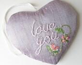 Heart Shaped Lavender Sachet Love You Valentines gift