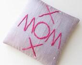 Silk lavender sachet, MOM embroidered sachet, Mother's Day gift, scented pillow scented drawer sachet