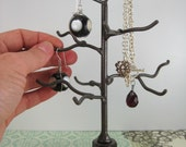 Ring Tree. Mini handwelded recycled steel tree for jewelry, holiday ornaments, or decoration. Made to order