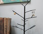 Ebony Tree. Handwelded recycled steel tree for jewelry, holiday ornaments, or decoration. Made to order