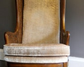 High Back Champagne Vintage Chair