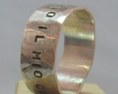 Custom Listing for Chelsea: Say It With Substance Custom Ring in Sterling Silver
