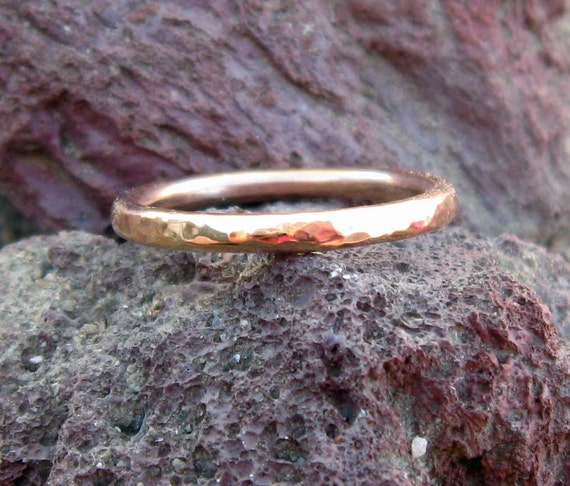 Rose Gold Filled Hammered Band in your size