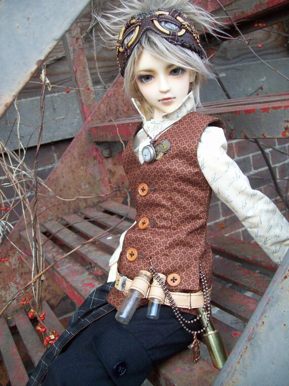 OOAK Neo Victorian Steampunk outfit for Volks Super DOLLFIE sd13 delf bjd