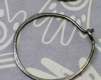 Simple Circle ... Hoop Earrings in Rustic or Shine your choice - hand made in Sterling Silver