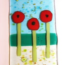 Icelandic Poppies Fused Glass Suncatcher Ornament
