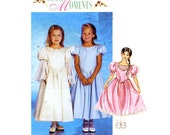 UNCUT McCall's 3052 girls' special occasion dresses Size 3 to 5