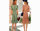 1940s dress vintage Mother of the bride sewing pattern McCalls 5179  Bust 36