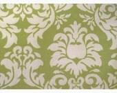 Michael Miller Dandy Damask Fabric Yardage Avocado green quilting fabric LAST piece