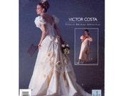 Romantic Designer wedding dress sewing pattern Vogue 1060 SZ 6 to 10 Victor Costa