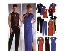 Bride bridesmaid cheongsam dress Wedding Evening wear dress top pants sewing pattern Size 12 to 20 Uncut