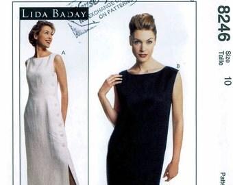 UNCUT Lida Baday dress sewing pattern McCall's 8246  size 10