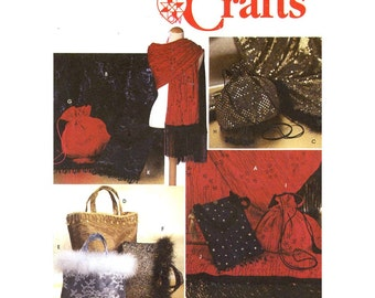 Chic Evening purse Autumn shawl or wrap sewing pattern Simplicity 9069 UNCUT