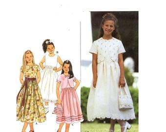 Flowergirls dress  pattern bolero jacket and sewing pattern Simplicity 8546 Sz 7 to 10 Uncut