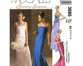 Wedding top skirt Bride grad New Years outfits sewing pattern McCall's 3685