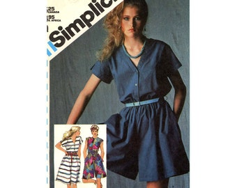 Spring Summer Culottes dress Espirit Simplicity 5583 vintage 80s sewing pattern Size 14