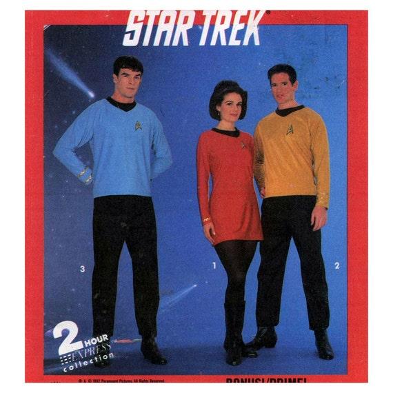 90s Simplicity 8028 Star Trek costume sewing pattern Size XXS-LRG