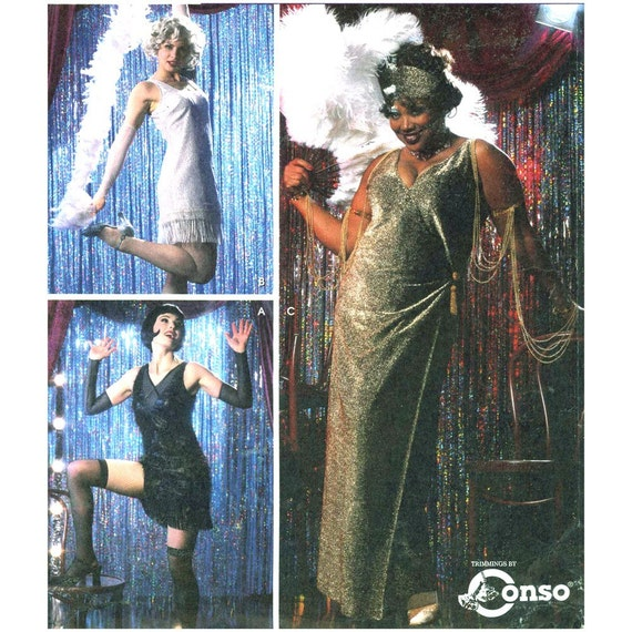 Simplicity 5400 Flapper costume sewing pattern Bust 36 to 42