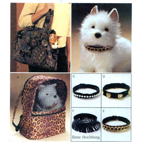 McCall's 4128 dog and cat carriers collars sewing pattern