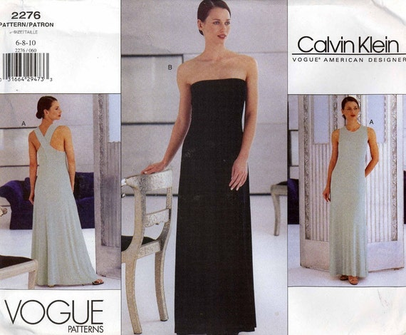 Chic Calvin Klein dress sewing pattern Vogue 2276 12 to 14