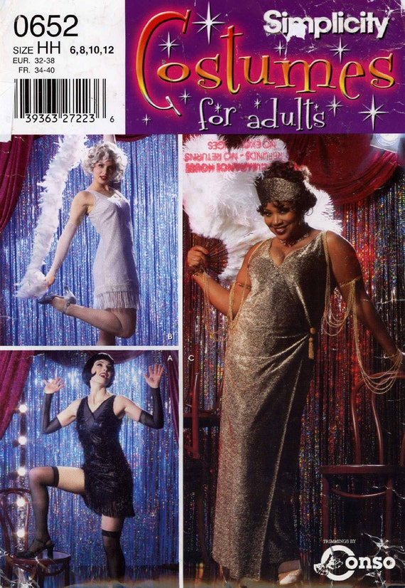 Roaring 20s Flapper costume sewing pattern Simplicity by ...