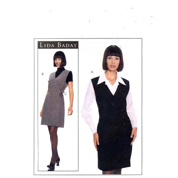 Lida Baday tunic dress and blouse sewing pattern McCalls 8943 Sz 8 or 16