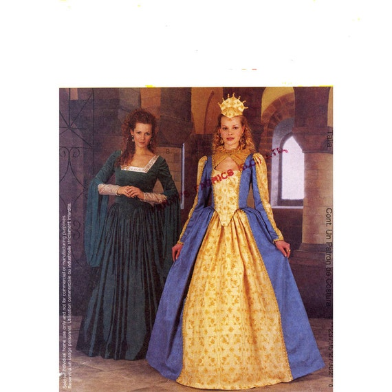 Elizabethan dress Costume history McCalls 2798 sewing pattern Sz 14 to 18 Historical dress pattern