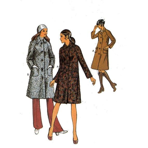 Mod coat sewing pattern Style 3358 Bust 34
