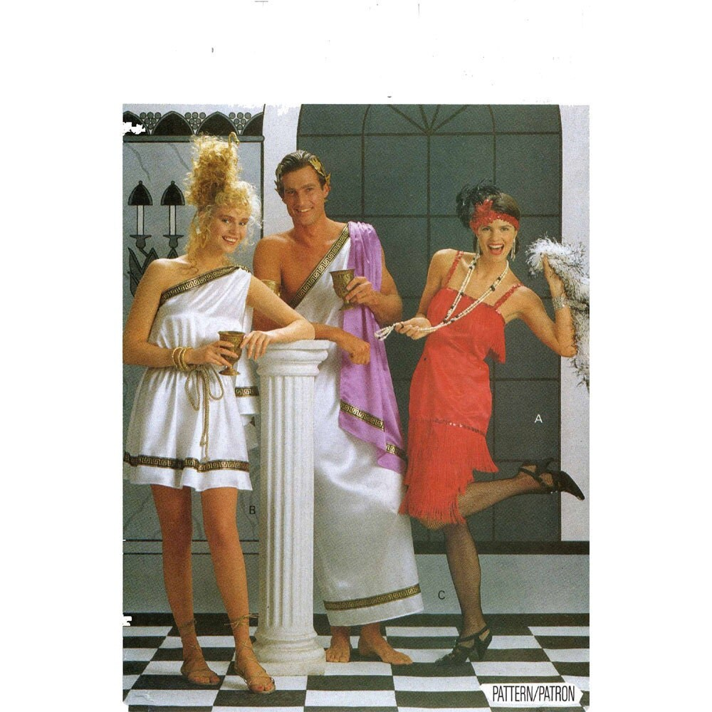 Mccall S 3514 Greek Roman Gown Toga Costume Sewing Pattern: Flapper Dress Or Toga Butterick 4199 Costume Sewing Pattern