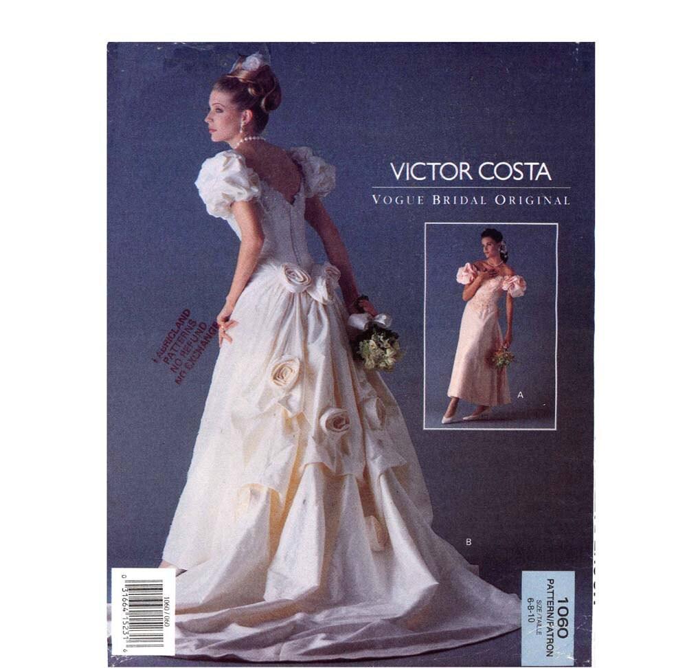 Vogue Wedding Dress Patterns: Romantic Designer Wedding Dress Sewing Pattern Vogue By
