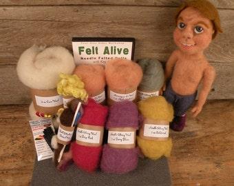 Beginner Needle Felting Doll Kit with DVDs
