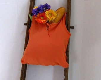 Hand-held Orange Tie Market Bag by Fashion Green T Bags