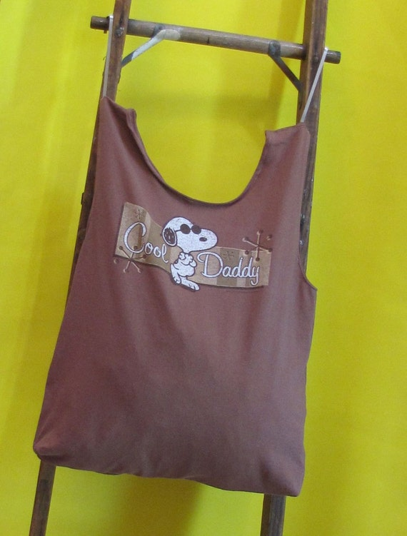 Cool Daddy Snoopy Reusable/ Washable Tote by Fashion Green T Bags