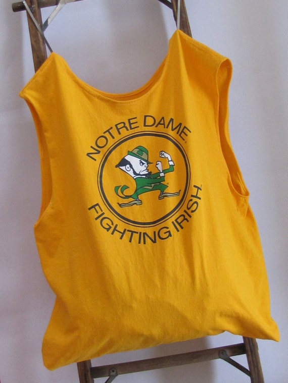 Grocery Market Tote Bag Notre Dame Fighting Irish T-Shirt Bag by Fashion Green T Bags