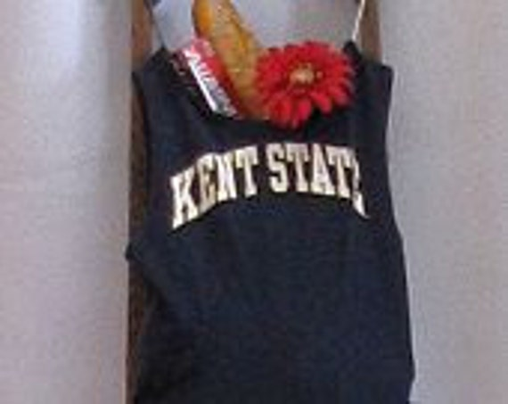 Grocery Market Tote Bag Kent State University Upcycled T-Shirt Tote by Fashion Green T Bags