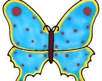 Butterfly Blue- Family Window Art